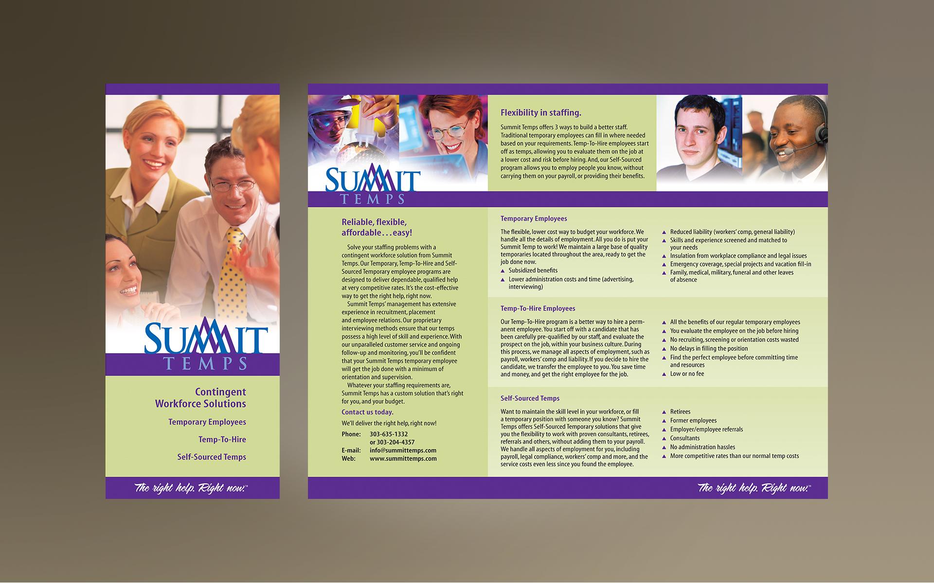 EdOutWest | Portfolio: Summit Temps Brochure
